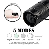 ULTRAFIRE 1000 Lumem LED 5 Mode Tactical Flashlight for Camping and Hiking