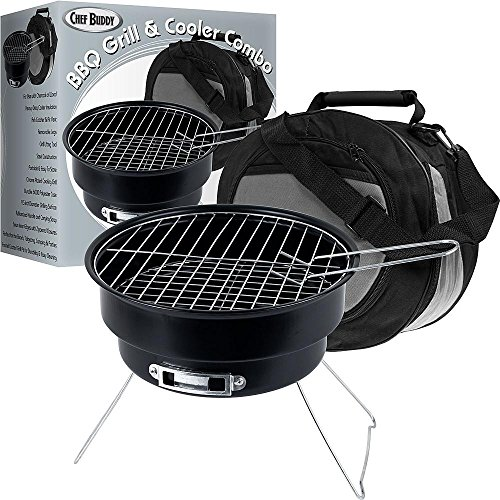 Portable Barbecue Grill and Cooler Combo Outdoor Cooking ...