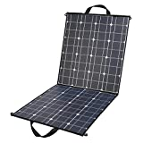100 Watt Foldable Solar Panel Charger 18V 12V Portable Flexible Monocrystalline Solar Panel with DC 18V and USB 5V Output Charger for Nature trips, Hiking, Camping, RV, Boat, Cabin, Tent