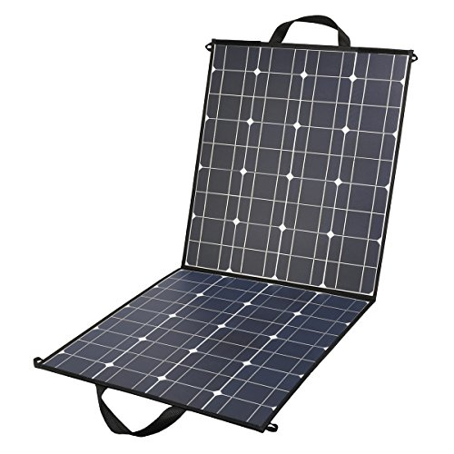 100 Watt Foldable Solar Panel Charger 18V 12V Portable Flexible Monocrystalline Solar Panel with DC 18V and USB 5V Output Charger for Nature trips, Hiking, Camping, RV, Boat, Cabin, Tent by TCXWPOWER
