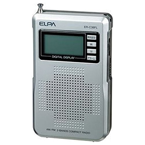 [해외]ELPA 액정 있는 AMFM 컴팩트 라디오 와이드 FM 해당 ER-C38FL / ELPA AMFM Compact Radio with LCD Wide FM ER-C38FL