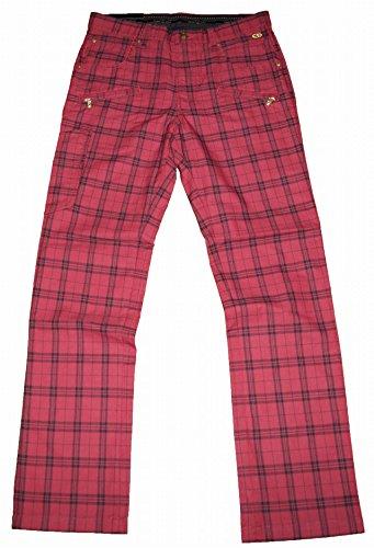 エドウィン ゴルフ EDWIN GOLF パンツ 美脚 ストレート チェック 赤 メンズ KG523F