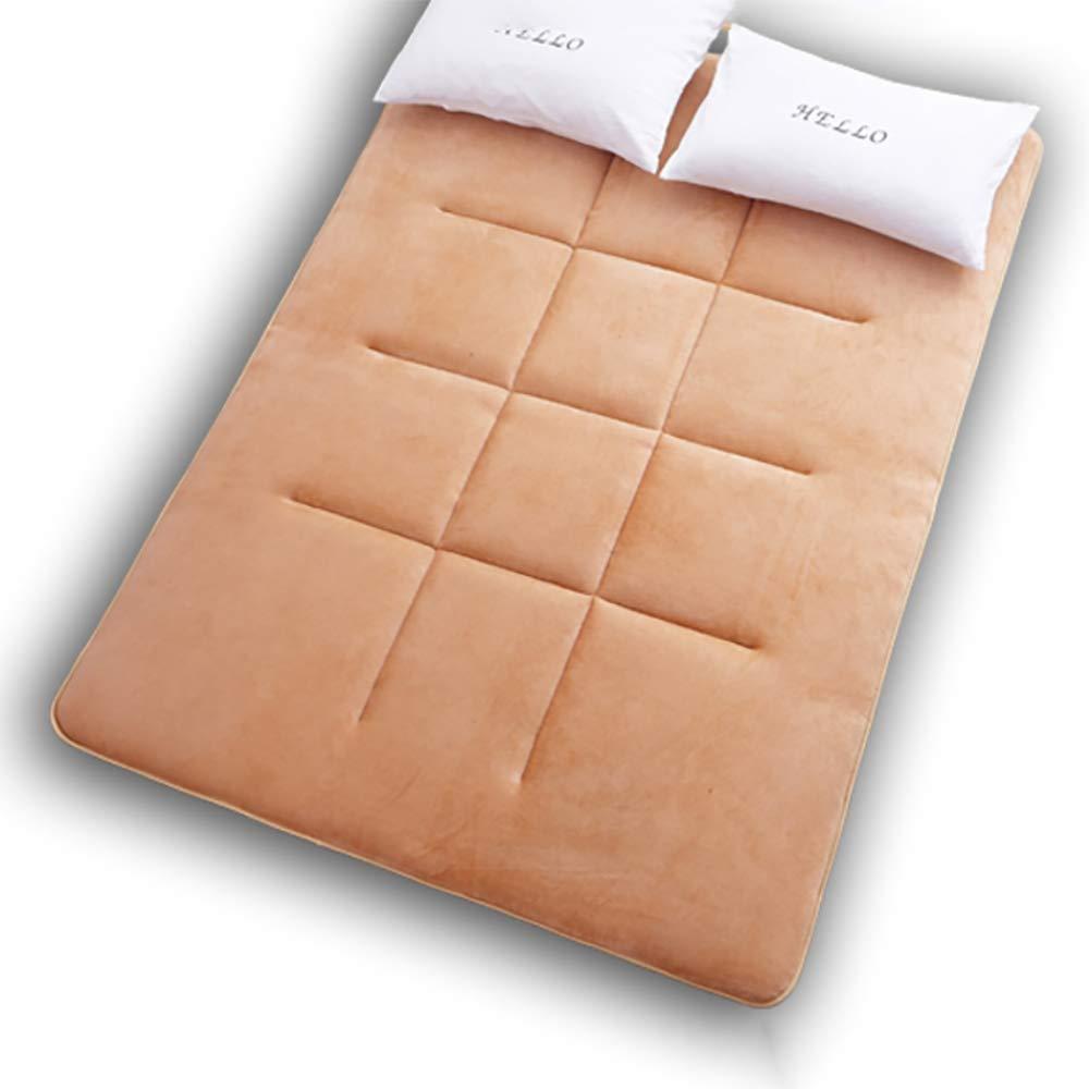 Light tan Twin 90×200cm Breathable Japanese Traditional futon Mattress,Soft Non-Slip Fluffy Anti dust mite Tatami Dorm Home-red 100x200cm(39x79inch)