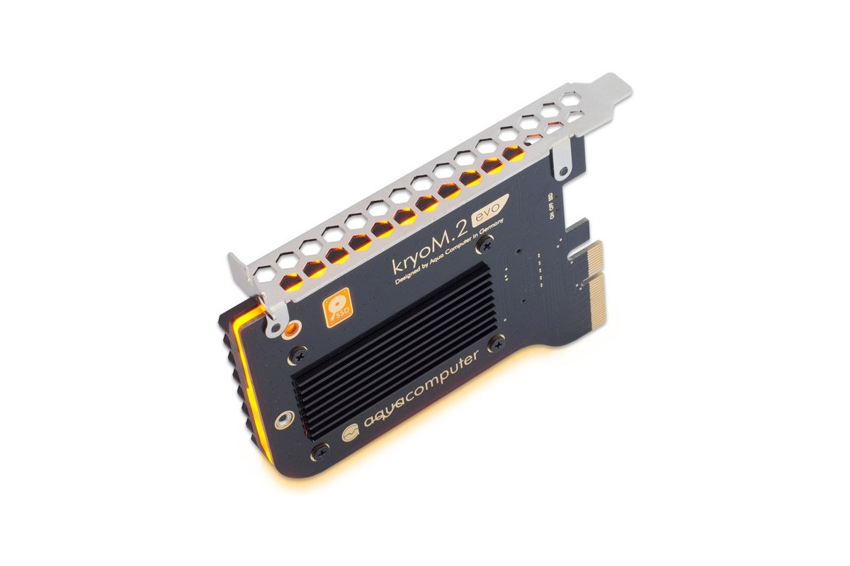 Aquacomputer kryoM.2 evo PCIe 3.0 x4 adapter for M.2 NGFF PCIe SSD, M-Key with passive heatsink by Aquacomputer (Image #4)