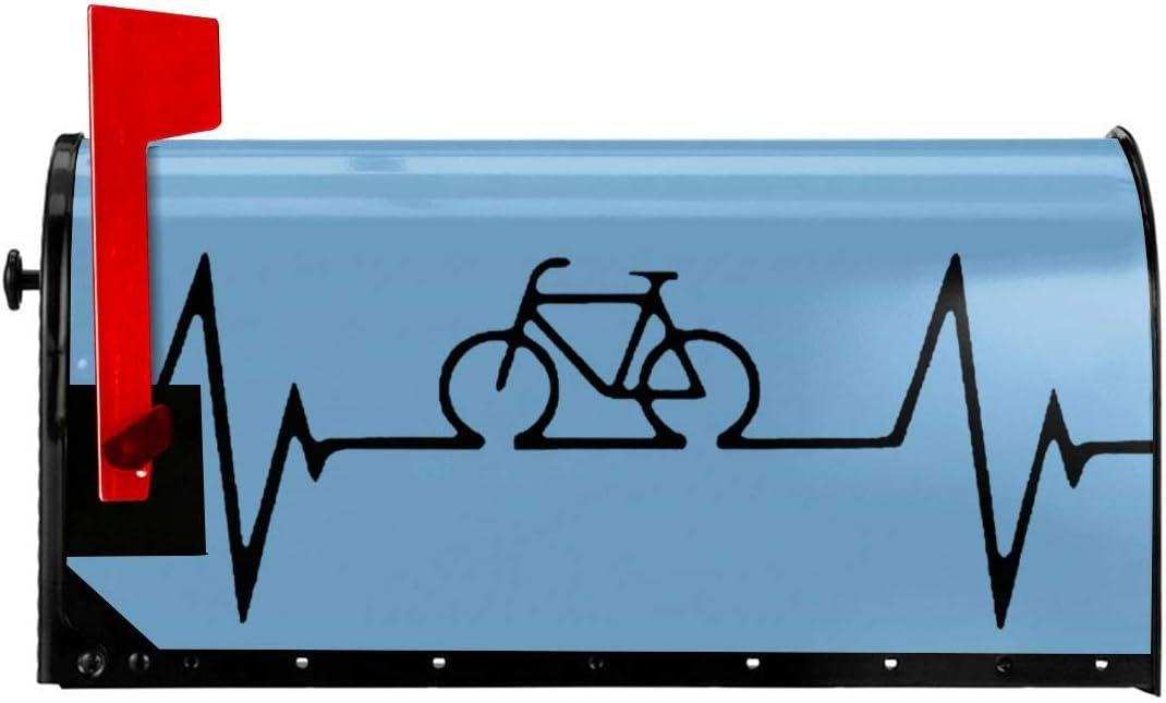 Bike Heartbeat Ciclismo Mountain Bike US Buz/ón cubierta impermeable buz/ón americano Mailwraps 53.3x45.7 cm