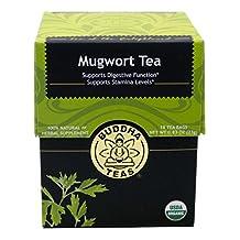 Mugwort Tea - Organic Herbs - 18 Sachets Bleach Free Tea Bags From Buddha Teas