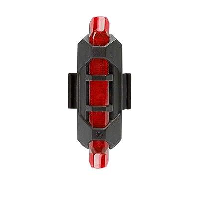 Masterein Essuie-glace à l'eau imperméable à l'arrière Feux arrières LED USB Rechargeable Night Riding Safety Lamp