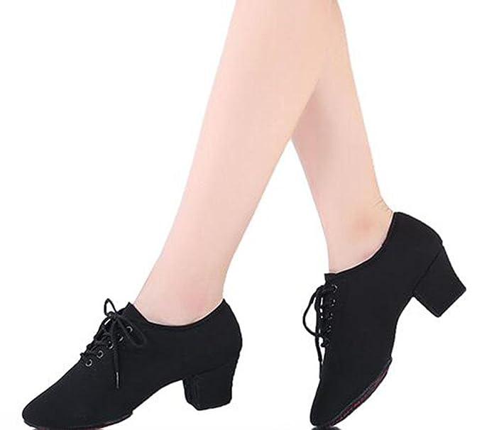 KUKI Chaussures de professeur Chaussures de danse latine Chaussures de danse adultes avec des chaussures de danse moderne de danse de salon , 1 , US7.5 / EU38 / UK5.5 / CN38