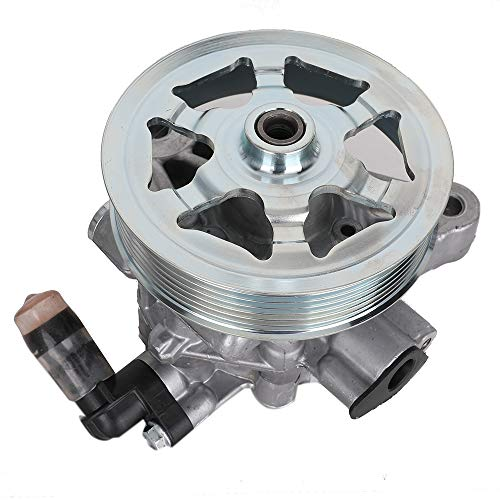 (Power Steering Pump with Pulley for 2008-2012 Honda Accord 2.4L L4 Replace # 21-5495 56100-R40-325 56100-R40-P05 56100-R40-A03)