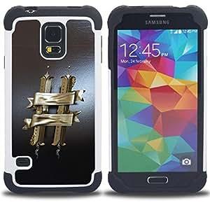 """Hypernova Híbrido Heavy Duty armadura cubierta silicona prueba golpes Funda caso resistente Para SAMSUNG Galaxy S5 V / i9600 / SM-G900 V SM-G900 [MARIDO""""]"""