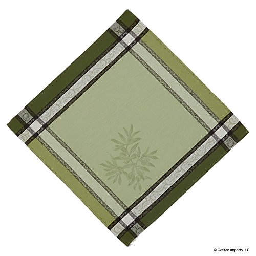 Olive Vert French Jacquard Napkin, 20 x 20