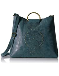T-Shirt & Jeans Large Ring Bag with Perf, Blu