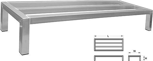 36 48 Length Heavy Duty 1000lbs Dunnage Rack Aluminum Warehouse Shelving 24