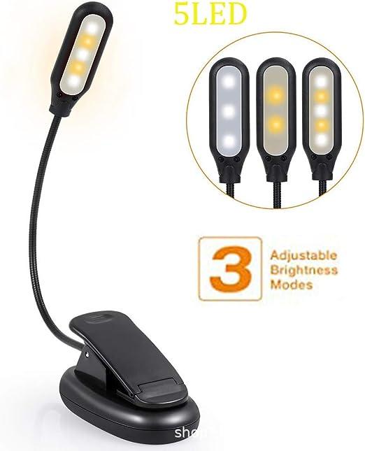 ZDGM Luz de Lectura para Libro, Flexo de Pinza Recargable LED ...