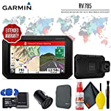 """Garmin RV 785 & Traffic, Advanced GPS Navigator for RVs with Built-in Dash Cam, 7"""" Touch Display and Voice-Activated Navigation Ultimate Accessory Kit"""