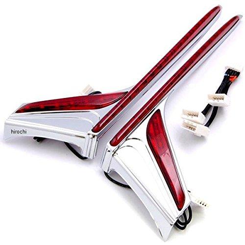 クリアキン Kuryakyn バーティカル リア ラン ブレーキ ライト ストリップ 赤レンズ 12年以降 GL1800、F6B クローム 2040-1648 3237 B079P2KRML