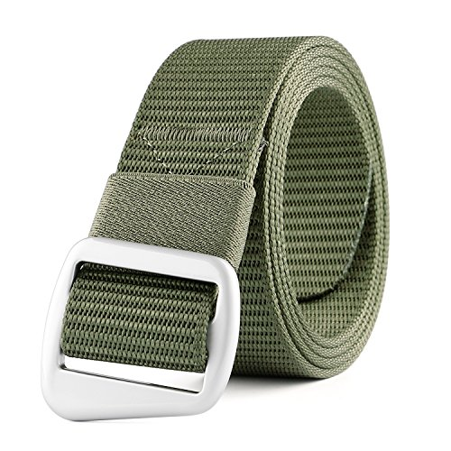 JASGOOD Men's Nylon Military Style Casual Army Outdoor Tactical Webbing Buckle Belt (For Outdoor Decorating Thanksgiving)