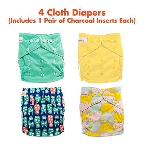 it 3 - 4 Premium Cloth Diapers with Charcoal Inserts ()