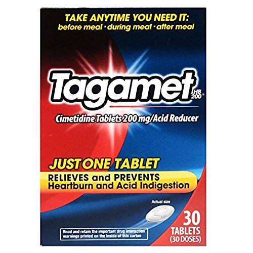 Tagamet Acid Reducer, 200mg Cimetidine Tablets, 30 Count Each (4 Pack)