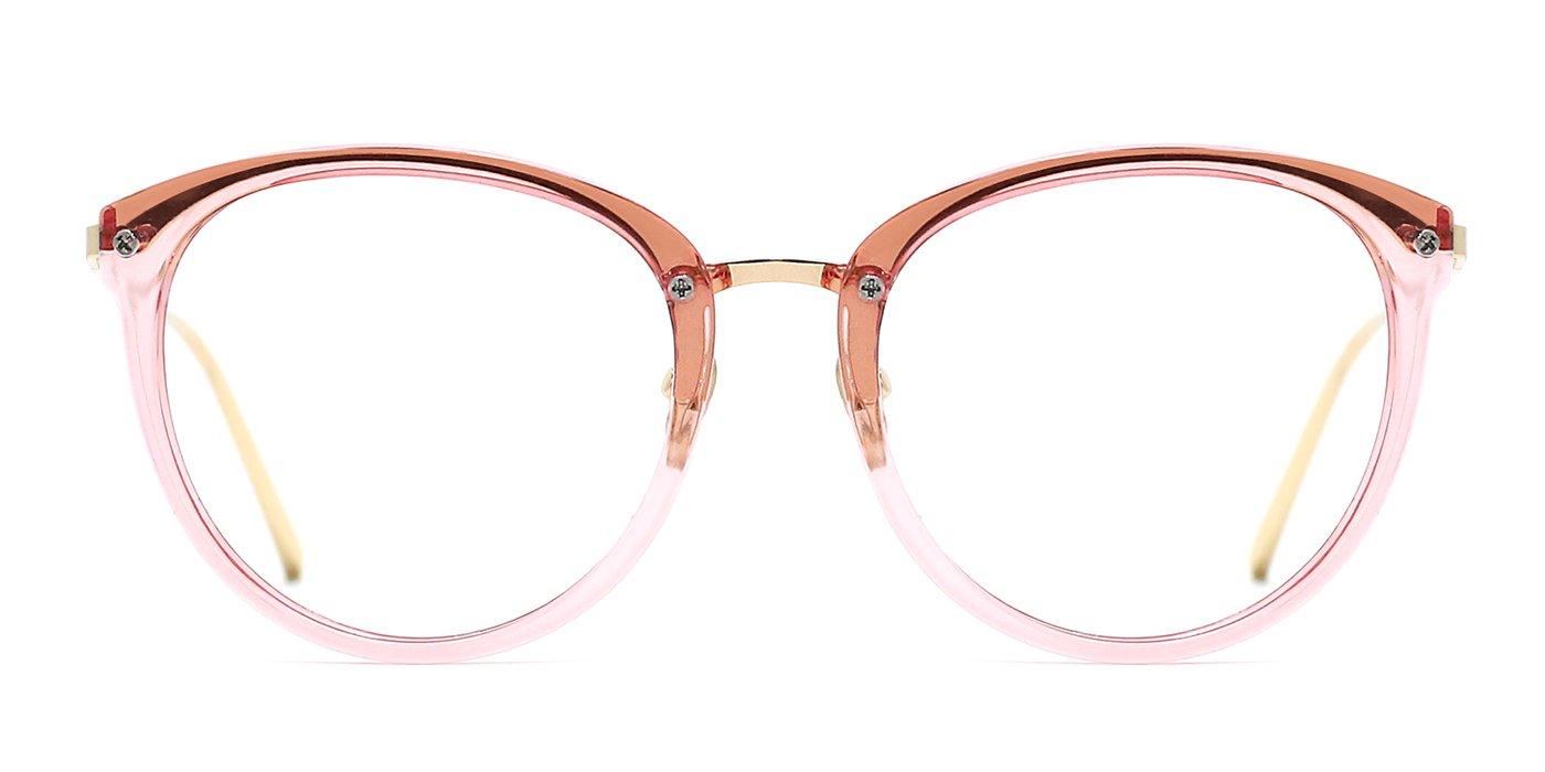 TIJN Blue Light Block Glasses|Round Optical Eyewear Non-prescription Eyeglasses Frame for Women 00087203