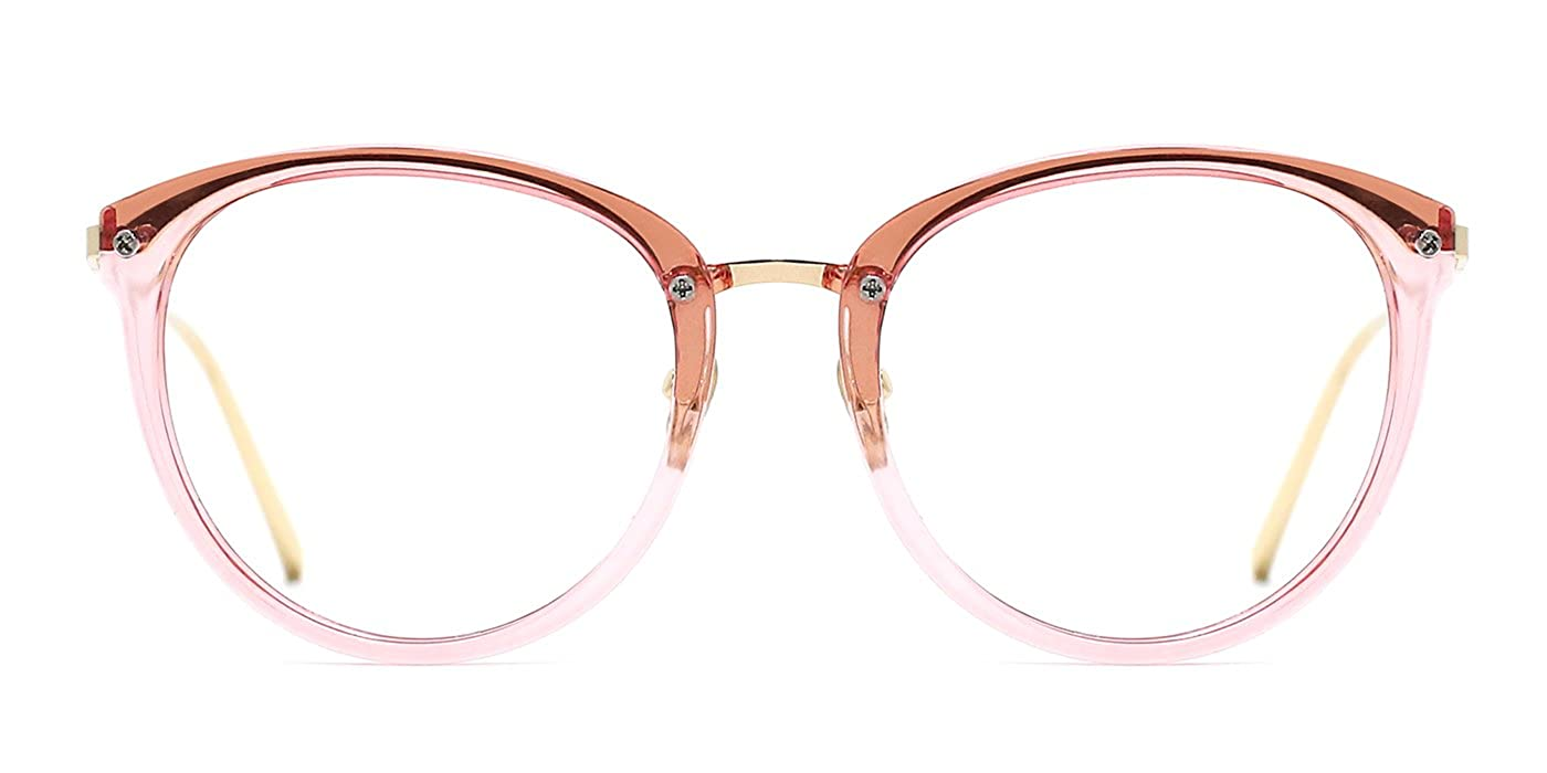 TIJN Vintage Round Metal Optical Eyewear Non-prescription Eyeglasses Frame for Women 00021403