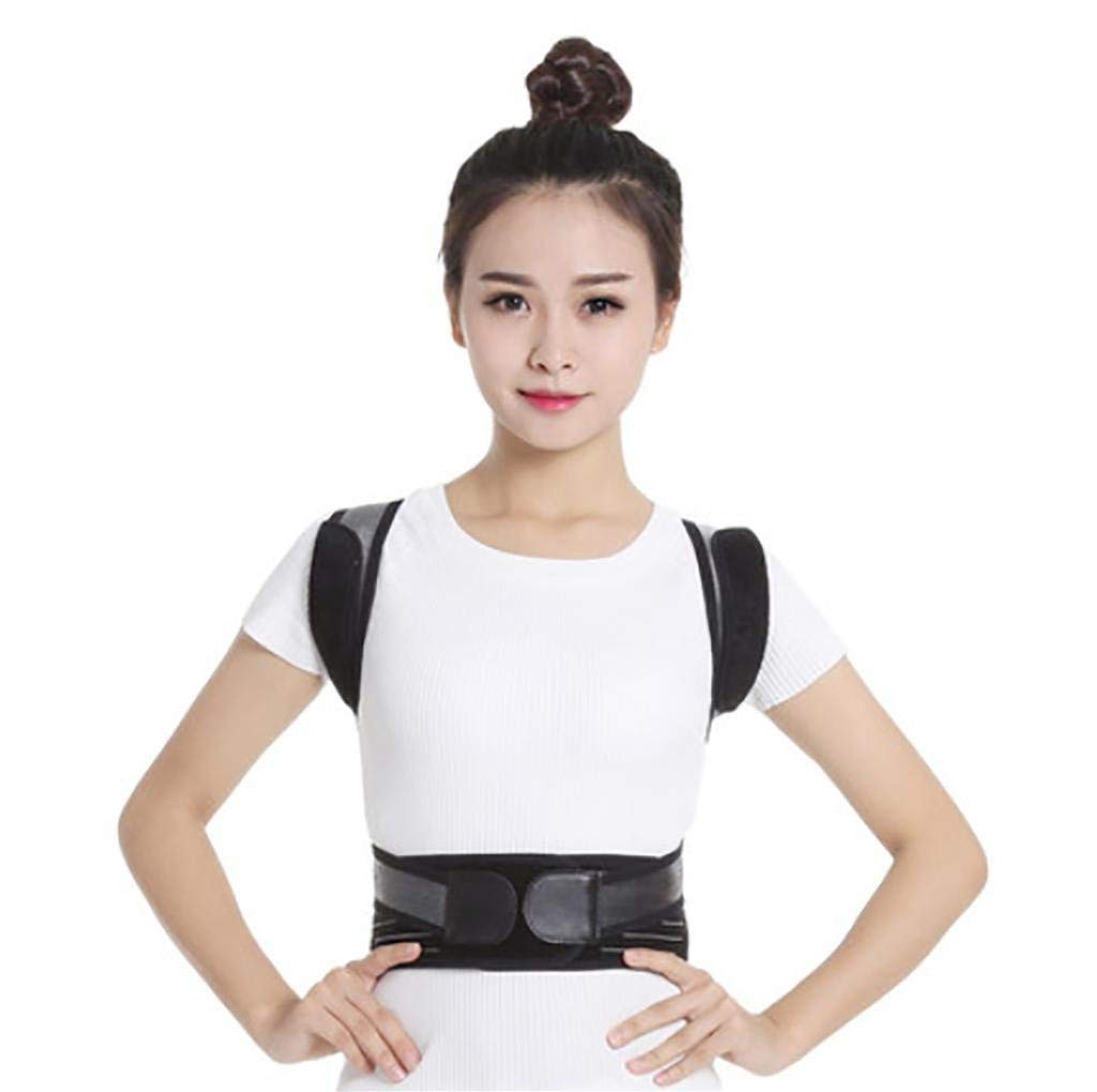 Correction Back Braces Therapy Posture Corrector Adult Men and Women Back Support Body Back Pain Lumbar Belt Orthopaedic Adjustable Shoulder (Size : Small)