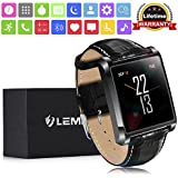 """Smart Watch , LEMFO LF20 Bluetooth Mens Smart Watches 1.54"""" IPS Screen MTK2502 Heart Rate Monitor SmartWatch for iPhone Android Phone"""