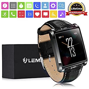 Smart Watch , LEMFO LF20 Bluetooth Mens Smart Watches 1.54″ IPS Screen MTK2502 Heart Rate Monitor SmartWatch for iPhone Android Phone