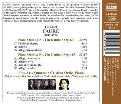 Faure: Piano Quintets