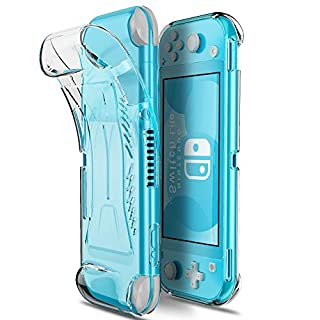 MAKACTUA Clear Switch Lite Case Compatible for Nintendo Switch Lite,Soft TPU Nintendo Switch Case Cover Accessories Grip Protection with Shockproof Scratch Resistant