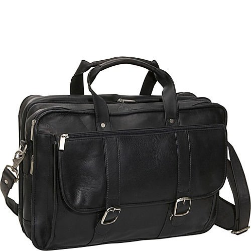(David King & Co. Expandable Laptop Briefcase, Black, One Size)
