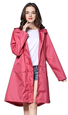 d03cac3aa5f Image Unavailable. Image not available for. Color  THOMAS HOME Women Rain  Jacket ...