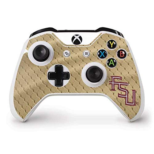 (Skinit FSU Gold Print Xbox One S Controller Skin - Officially Licensed College Gaming Decal - Ultra Thin, Lightweight Vinyl Decal Protection)