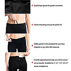 - 51lEBQlqwIL - Yogipace Petite/Regular/Tall,25″/28″/31″,Women's Water Resistant Fleece Lined Thermal Tights Winter Running Cycling Skiing Leggings with Zippered Pocket