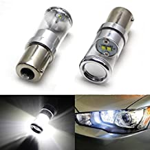 iJDMTOY (2) HID Matching Xenon White 5W CREE 1156 LED Bulbs for 2008-up Mitsubishi Lancer and Evolution X Daytime Running Lights