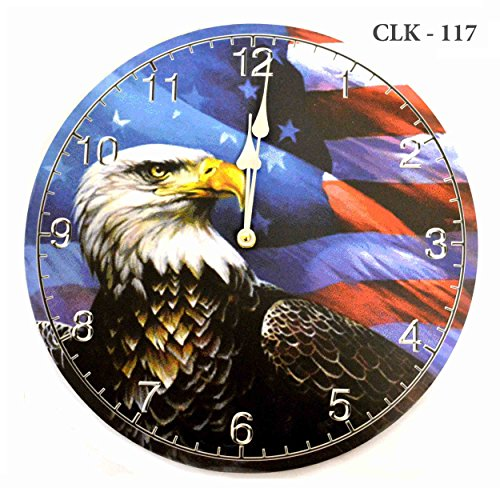 Patriotic American Eagle Wall Clock - Independence Day Special