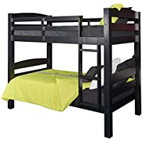 Twin Over Twin Bunk Bed (Black)