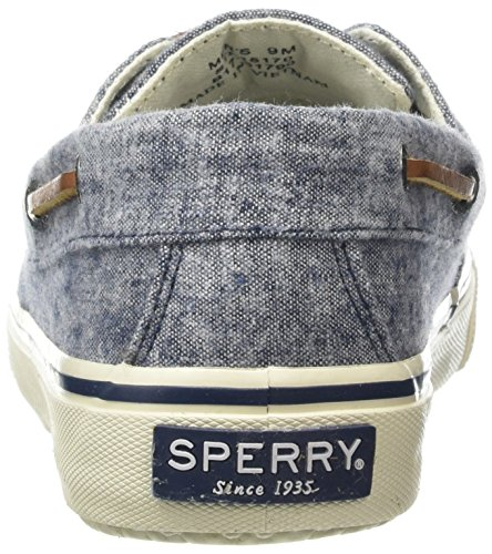 Sperry Bahama 2-Eye Linen, Scarpe da Barca Uomo Blu (Navy)