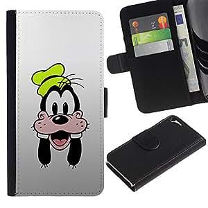 UNIQCASE - Apple Iphone 5 / 5S - Goof Face - Cuero PU Delgado caso cubierta Shell Armor Funda Case Cover