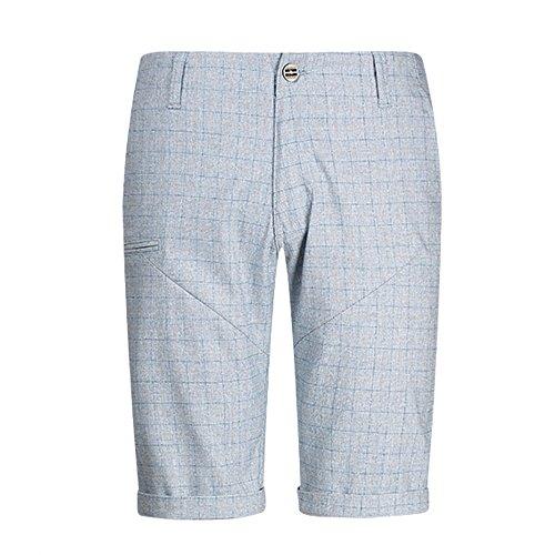 De Azul Cuadros Pantalones Escoceses Deportivos Algodón Exterior Cortos Yra 5 Verano Hombres Gris Para pwHfq6E