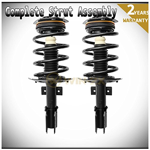 WIN-2X New 2pcs Front Left & Right Side Quick Complete Suspension Shock Struts & Coil Springs Assembly Fit 04-08 Pontiac Grand Prix With 16