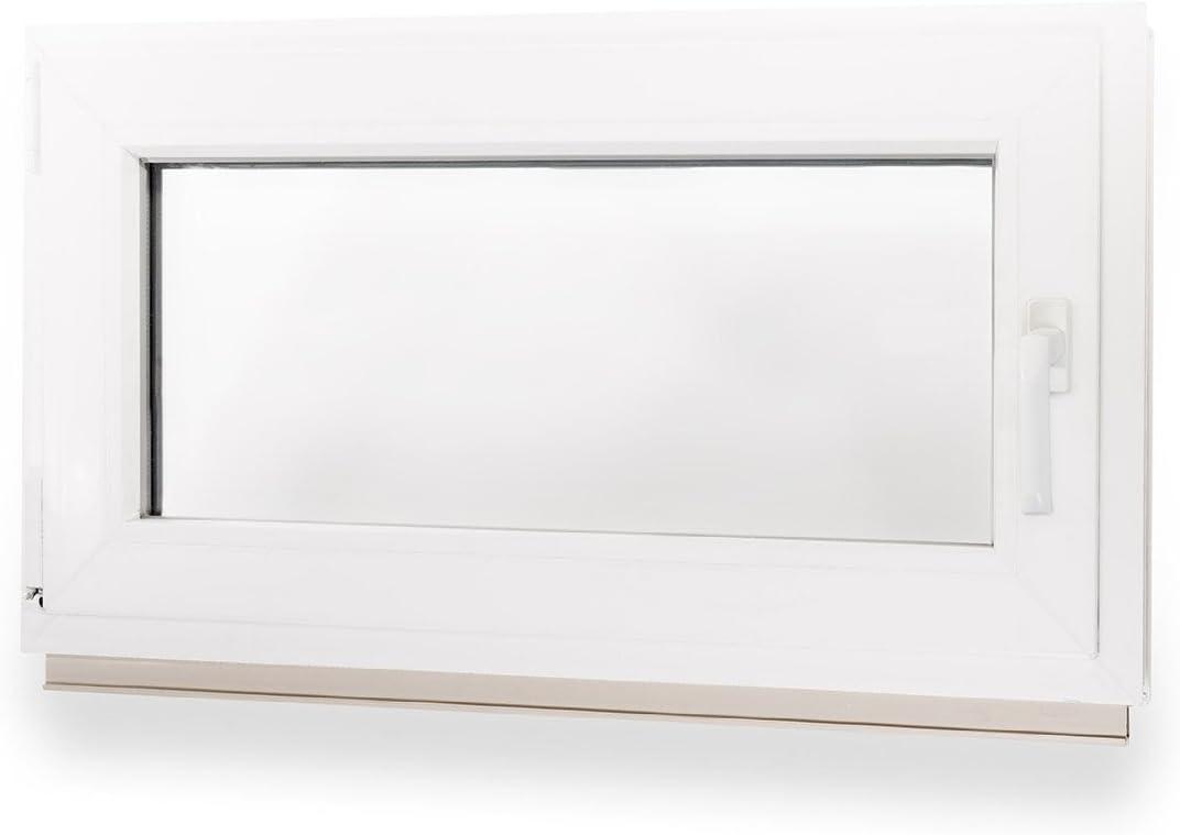 700x500mm DIN Links Kellerfenster 3fach Verglasung Kunststoff Fenster Pilzkopfverr WINKHAUS BxH 70x50cm