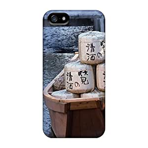 New Arrival EPpjT12235OHwno Premium Iphone 5/5s Case(laden Boat On A Japanese River)