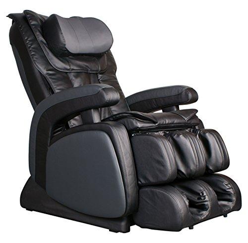 COZZIA 16028-3500-29 Zero Gravity Shiatsu Heat, Adjustable Speed, Strength and Intensity Massage Chair Power Recliner, Black, 171 Pound