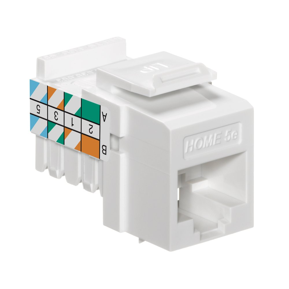 Leviton 5ehom Rw5 Home 5e Snap In Connector T568a B Cat5e Jack Wiring White Improvement