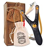 aGreatLife Bear Wood-Carved Kids' Slingshot with Wolf Whistle: Fun and Durable Sport Accessory For Kids and Adults - With a Comfortable Grip