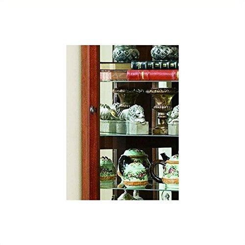 Beaumont Lane 8 Shelf Corner Cabinet in Victorian Cherry