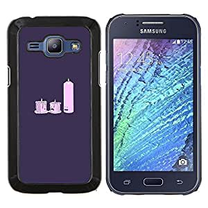 "Be-Star Único Patrón Plástico Duro Fundas Cover Cubre Hard Case Cover Para Samsung Galaxy J1 / J100 ( Candle Light Dat E- divertido"" )"