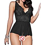Best Fasicat Babydolls - ZegoCaCa Women's See-through Babydoll Lace Lingerie Open Crotch Review