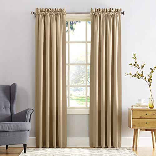 (Sun Zero Barrow Energy Efficient Rod Pocket Curtain Panel, 54